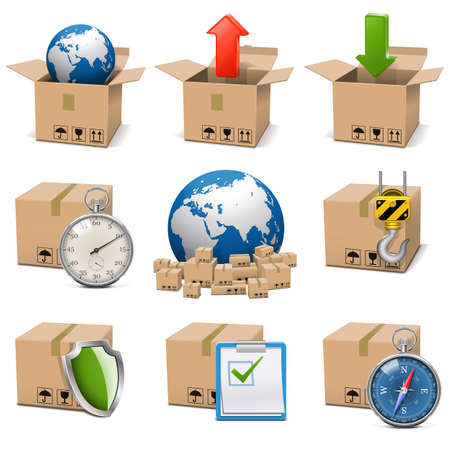 Photo for Vector Shipment Icons Set 9 - Royalty Free Image