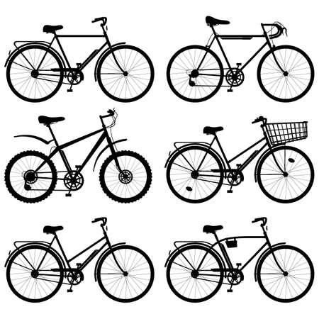 Vector Bicycle Pictogram isolated on white background