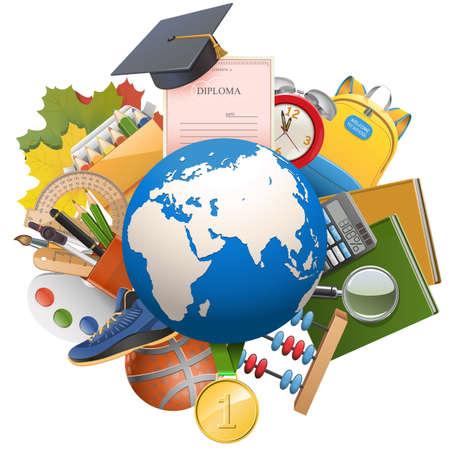 Foto für Vector Global Education Concept isolated on white background - Lizenzfreies Bild