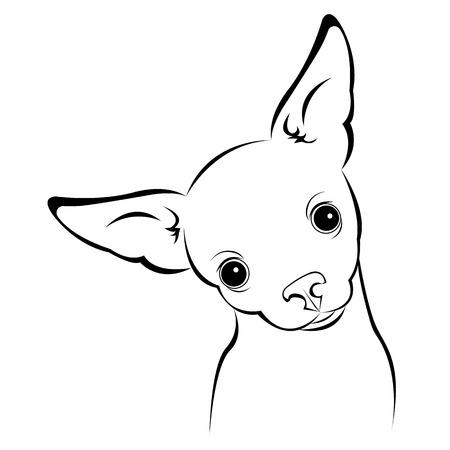Illustration pour dog vector funny little home eared background - image libre de droit
