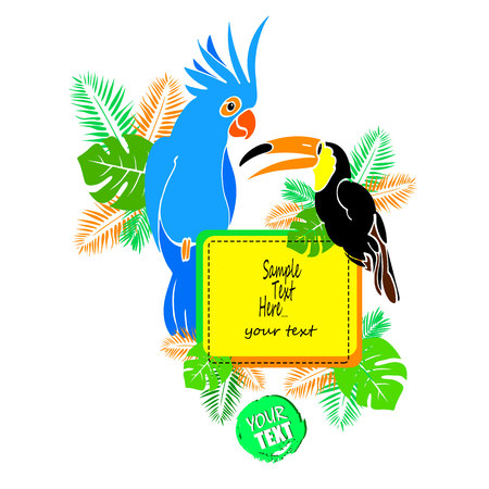 parrot, bird, vector, tropical, macaw, red, colorful, illustration, animal, wildlife
