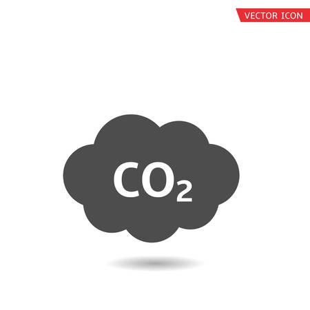 Illustration pour CO2 cloud icon. Carbon emissions reduction, Vector illustration - image libre de droit