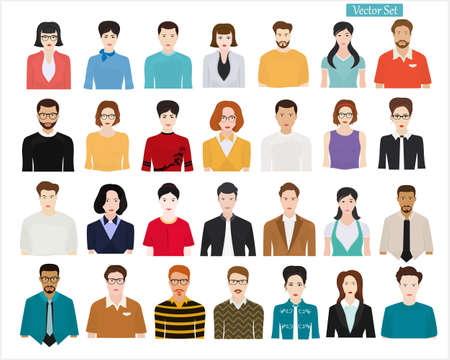 Illustration for Set of different people on a light background. People of different professions and ages. - Royalty Free Image