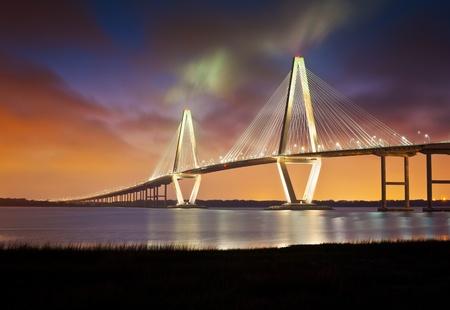 Arthur Ravenel Jr Cooper River Suspension Bridge Charleston SC from Patriots Point South Carolina
