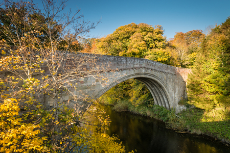Twizel Bridge spans River Till - Built in 1511 the medieval Twizel Bridge played a major part in the build up to the Battle of Flodden. It crosses the River Till in the border country of Northumberland