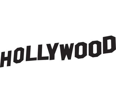 Illustration pour Hollywood sign lettering in vector black - image libre de droit
