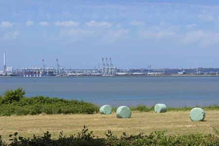 LE HAVRE, FRANCE - JUNE 2014; View of the port.