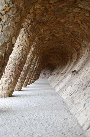 Lavandera Portico of the Parc Guell Barcelona Lavandera