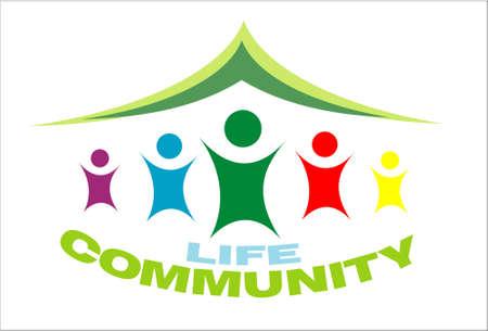 Illustration for Life Community symbol colorful image - Royalty Free Image