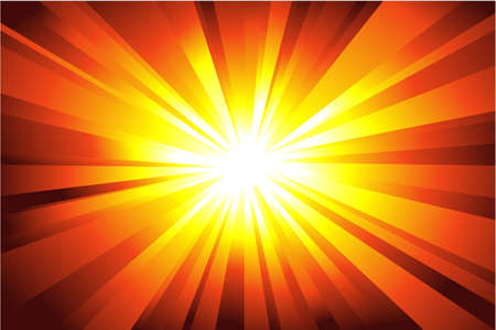 Colorful explosion of light with casual rays.