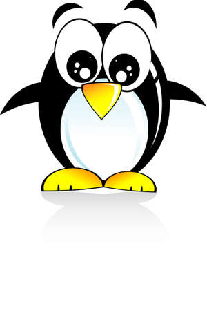 Colorful Cartoon Style funny penguin