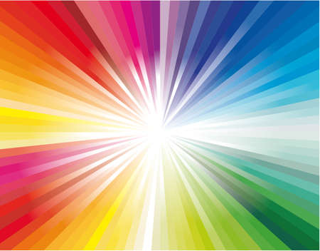 Illustration pour Abstract Colorful Rainbow Explosion of ray lights - image libre de droit