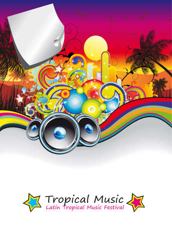 Colorful Rainbow Musical Event Background for Flyers
