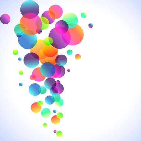 Abstract Rainbow Bubbles Background for Elegant Flyers