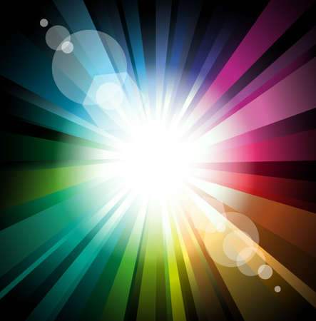 Abstract Lights Explosion with Lens Flare effect