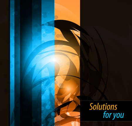 Illustration pour Hitech Abstract Business Background with Abstract Glowing motive  - image libre de droit