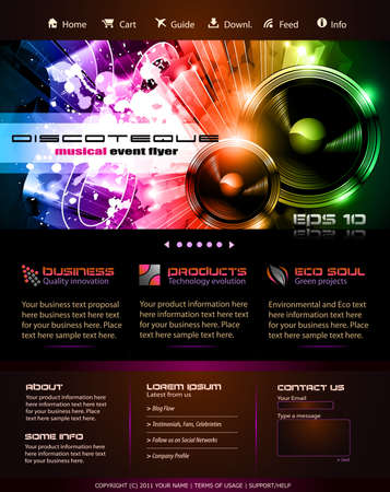 Music Themed Webtemplate or Blog Graphics
