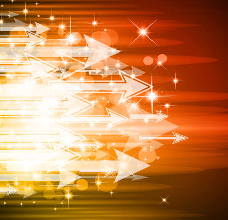 Sugestive Abstract Background with Arrows and Flow of Lights