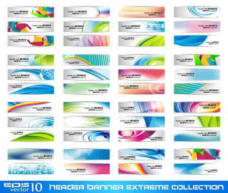 Ilustración de Header Banner extreme collection - ready to use for website or blog design - Imagen libre de derechos