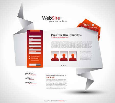 Origami Website - Elegant Design for Business Presentations. Every Shadow is transparent