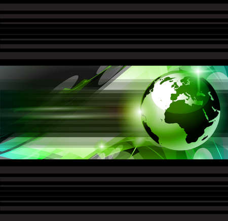 Illustration pour Hitech Abstract Business Background with Abstract Glowing motive to use for corporate presentation flyers or posters. - image libre de droit
