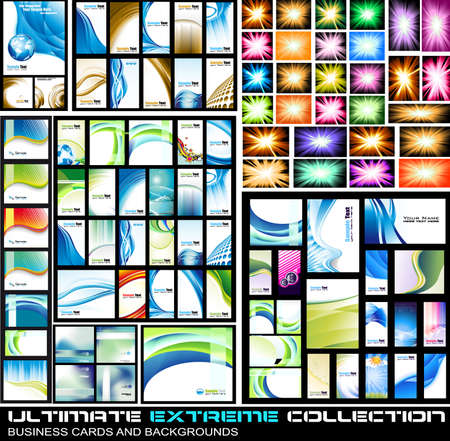 Ultimate Extreme Collection of business corporate cards and lbackground - A lot of pieces for all kind of cover,brochures and original presentations background.