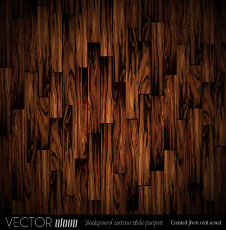 Vector parquet background with old wood texture. Created from real wood with cartoon illustration style.