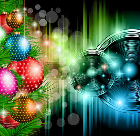 Illustration pour Christmas Club Party Background - Ideal for holiday discotheque event or party invitation poster. - image libre de droit