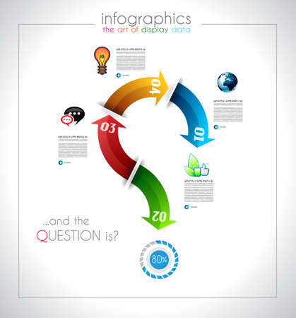 Infographic design - original paper geometric shape with shadows. Ideal for statistic data display or product ranking or general purpose classification.