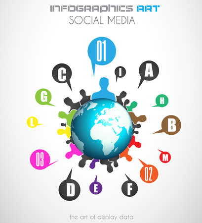 Worldwide communication and social media concept art. People communicating around the globe with a lot of connections.