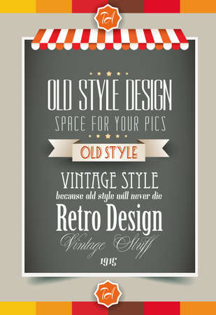 Photo for Vintage retro page template for a variety of purposes: website home page, old style flyers, book covers or vintage posters. - Royalty Free Image