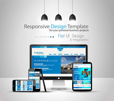 Modern devices mockups fpr your business projects  webtemplates included