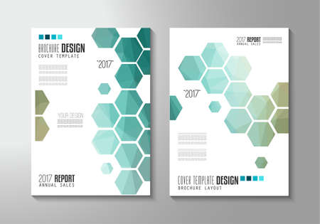 Illustration for Brochure template, Flyer Design or Depliant Cover for business presentation and magazine covers, annual reports and marketing generic purposes. - Royalty Free Image
