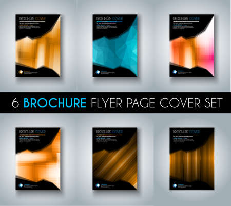 Illustration for Set ofBrochure templates, Flyer Designs or Depliant Covers for business presentation and magazine covers, annual reports and marketing generic purposes. - Royalty Free Image