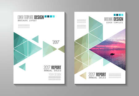 Ilustración de Brochure template, Flyer Design or Depliant Cover for business presentation and magazine covers, annual reports and marketing generic purposes. - Imagen libre de derechos