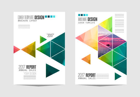 Illustration for Brochure template, Flyer Design or Depliant Cover for business presentation and magazine covers. - Royalty Free Image