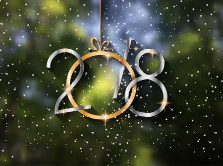 Ilustración de 2018 New year background - Imagen libre de derechos