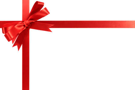 Red bow gift ribbon