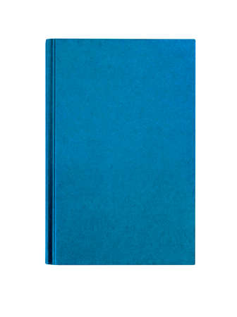 Light blue plain hardcover book front cover upright vertical isolated on white