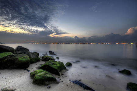 Sunrise at East Coast Park Beach Park in Singapore 2