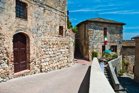 Street of San Gimignano in Tuscany, Italy