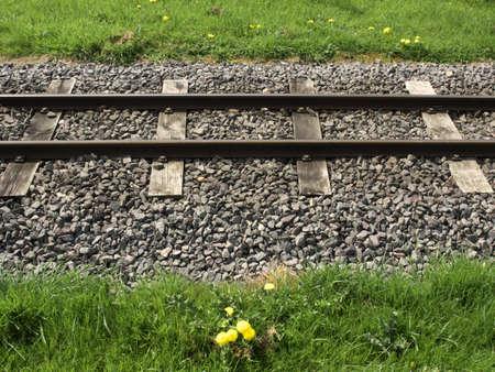 a narrow guage railway line