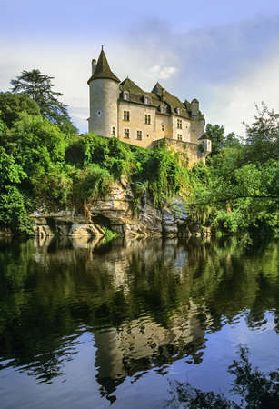the valley of the river dordogne aquitaine france