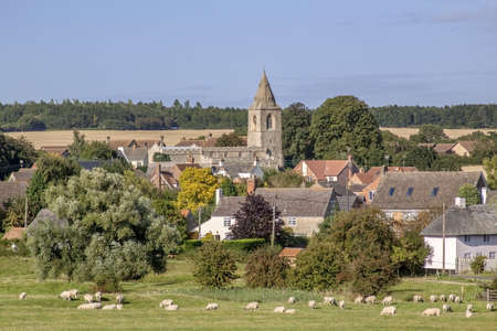 a village in the english countryside