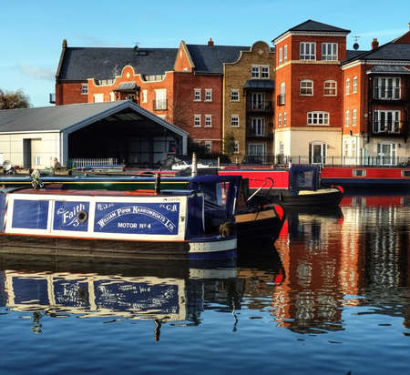 Diglis canal basin Worcester uk