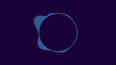 Photo for Abstract animation of colorful sound wave circle equalizer. Audio spectrum simulation for music, computer calculating, futuristic, ads, animation. - Royalty Free Image