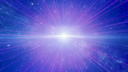 Photo for Abstract creative cosmic background, moving through space galaxy. Animation. Speed of light, seamless travel through a wormhole, time and space with millions of stars and nebulae. - Royalty Free Image