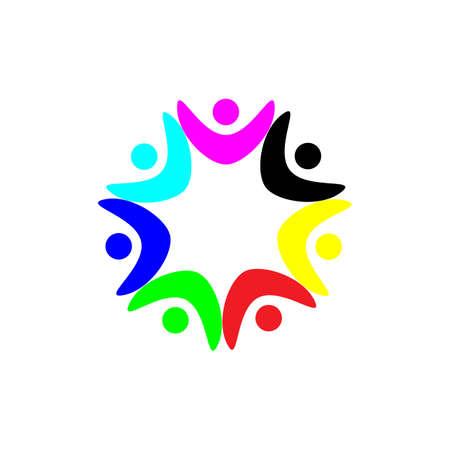 Illustration pour Community Logo puzzle  template vector - image libre de droit