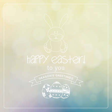 Colored background with text and eggs for easter