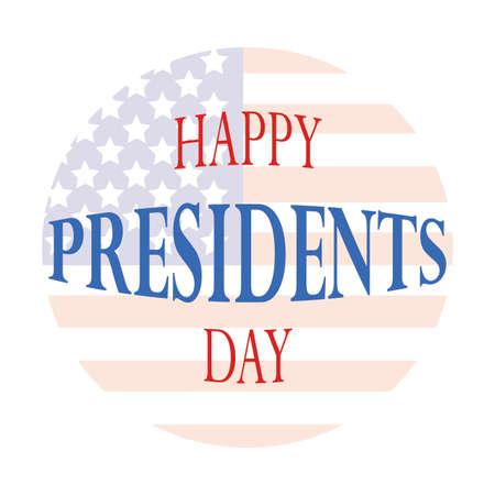 Photo pour Happy Presidents day - image libre de droit